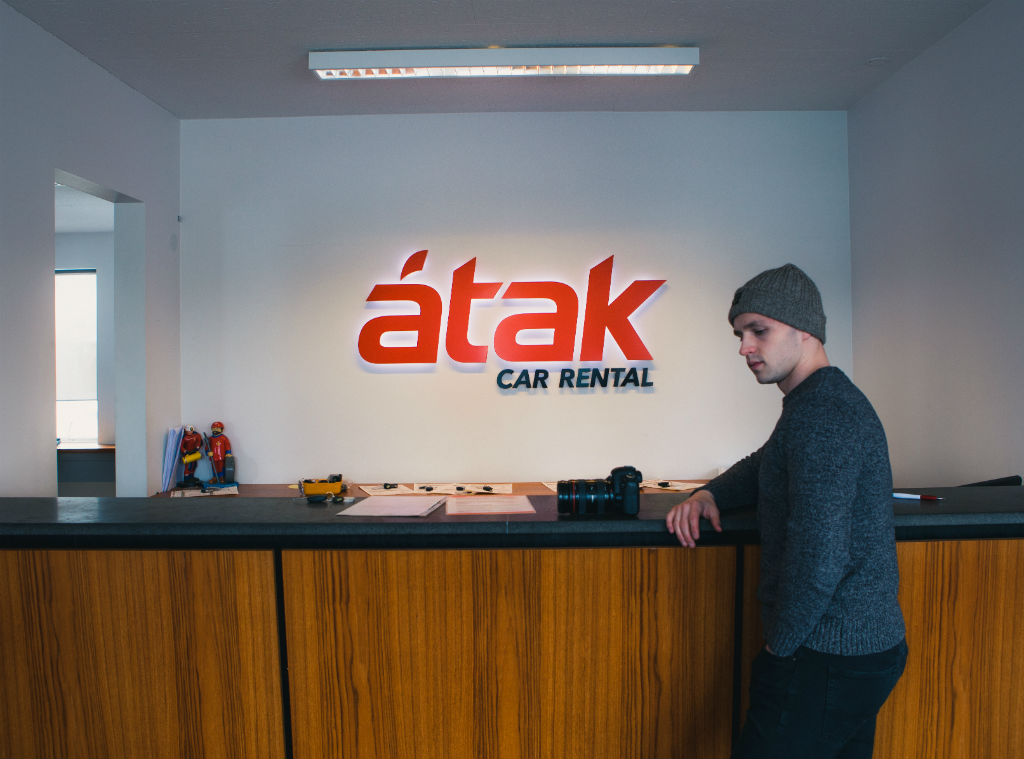 Atak car rental reykjavik head office inside
